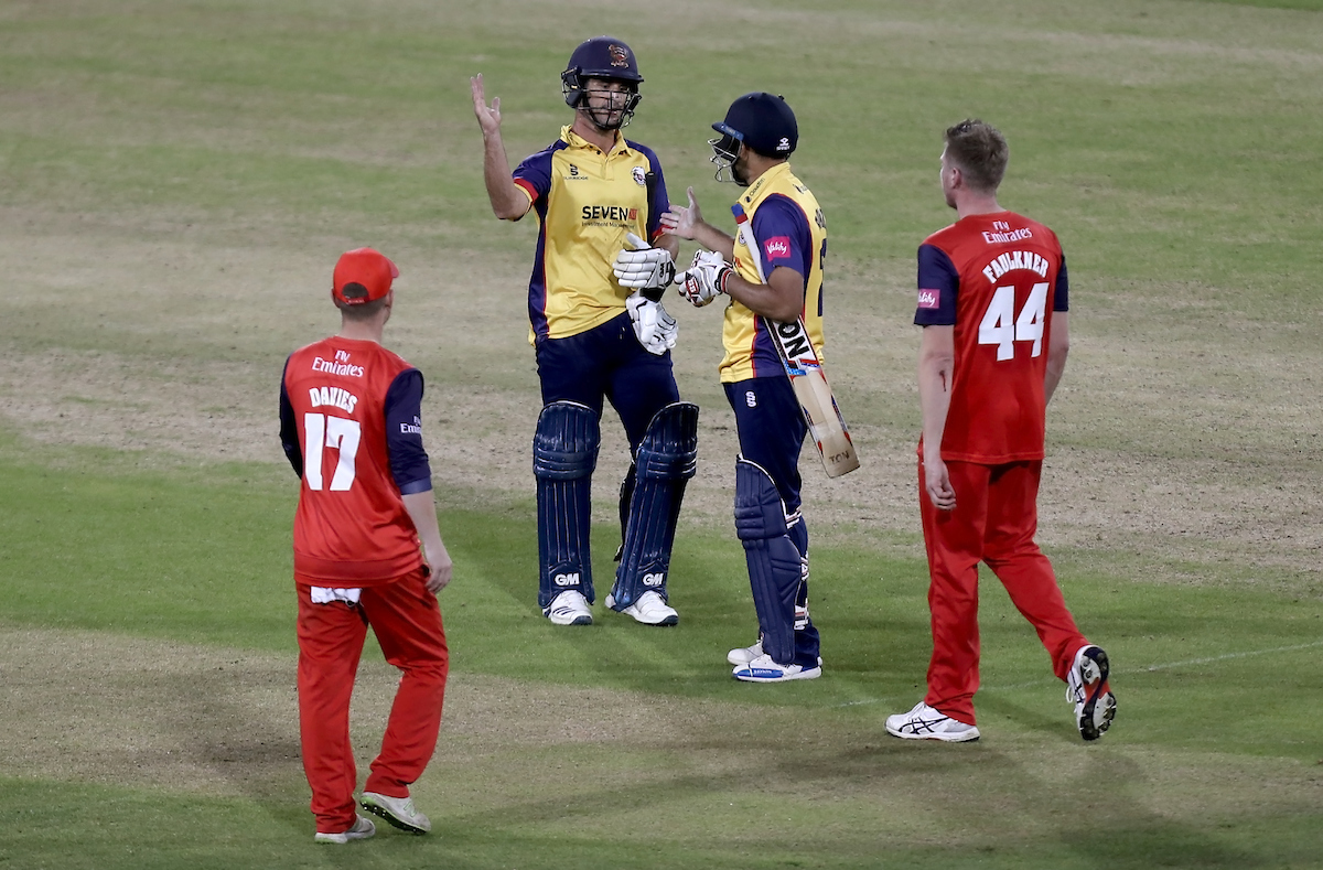 Lancashire Lightning vs Essex Eagles, Vitality Blast T20, Cricket, Emirates Riverside, Chester-le-Street, County Durham, United Kingdom – 04 Sep 2019